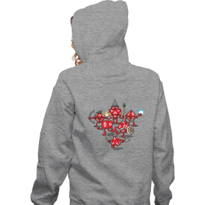 Shirts Zippered Hoodies, Unisex / Small / Sports Grey Adventure Party