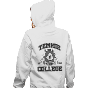 Shirts Pullover Hoodies, Unisex / Small / White Temmie College