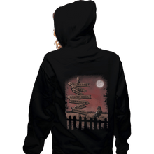 Load image into Gallery viewer, Shirts Pullover Hoodies, Unisex / Small / Black Horror Crossroads