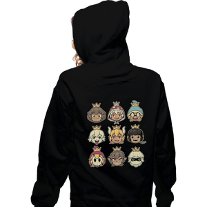Shirts Zippered Hoodies, Unisex / Small / Black Evil Waifus