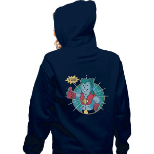 Shirts Zippered Hoodies, Unisex / Small / Navy Planet Boy