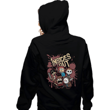 Load image into Gallery viewer, Shirts Zippered Hoodies, Unisex / Small / Black Insides Out