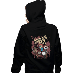 Shirts Zippered Hoodies, Unisex / Small / Black Insides Out