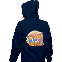 Load image into Gallery viewer, Shirts Pullover Hoodies, Unisex / Small / Navy Ramen Cart