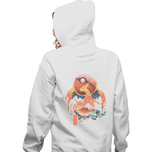 Load image into Gallery viewer, Shirts Zippered Hoodies, Unisex / Small / White Fire Ninja
