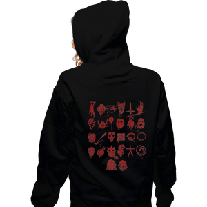 Shirts Zippered Hoodies, Unisex / Small / Black ABCs Of Horror
