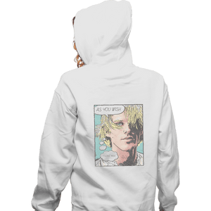 Shirts Zippered Hoodies, Unisex / Small / White As You Wish