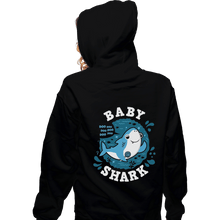 Load image into Gallery viewer, Shirts Zippered Hoodies, Unisex / Small / Black Cute Baby Shark