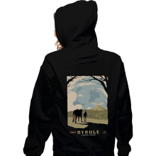 Load image into Gallery viewer, Shirts Zippered Hoodies, Unisex / Small / Black Epona Visit Hyrule