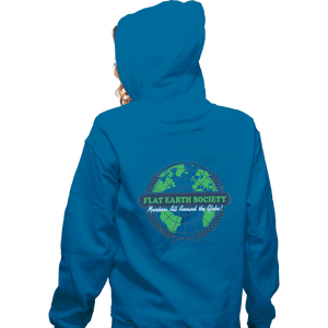 Shirts Zippered Hoodies, Unisex / Small / Royal Blue Around The Globe