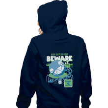 Load image into Gallery viewer, Shirts Pullover Hoodies, Unisex / Small / Navy Beware Of Chomp Chomp