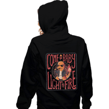 Load image into Gallery viewer, Shirts Zippered Hoodies, Unisex / Small / Black Come On Baby Light My Fire