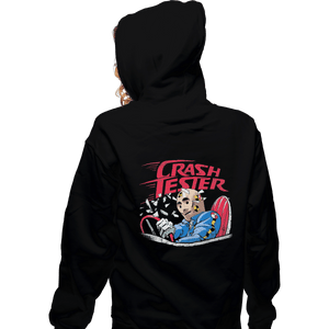 Shirts Zippered Hoodies, Unisex / Small / Black Crash Tester