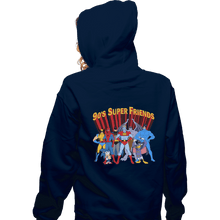 Load image into Gallery viewer, Shirts Pullover Hoodies, Unisex / Small / Navy 90s Super Friends