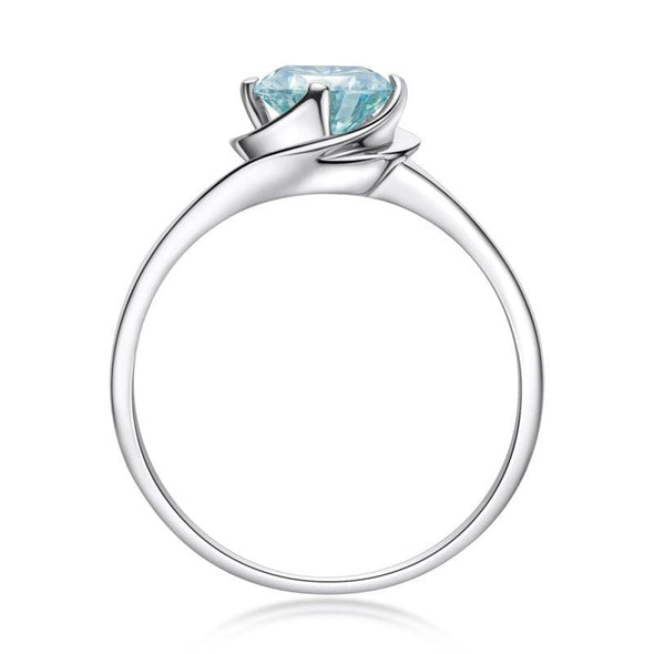 Moissanite Ring Round Cut Moissanite Diamond Ring