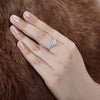 Twist Shank Ring Twist Round Created White Diamond Halo Ring
