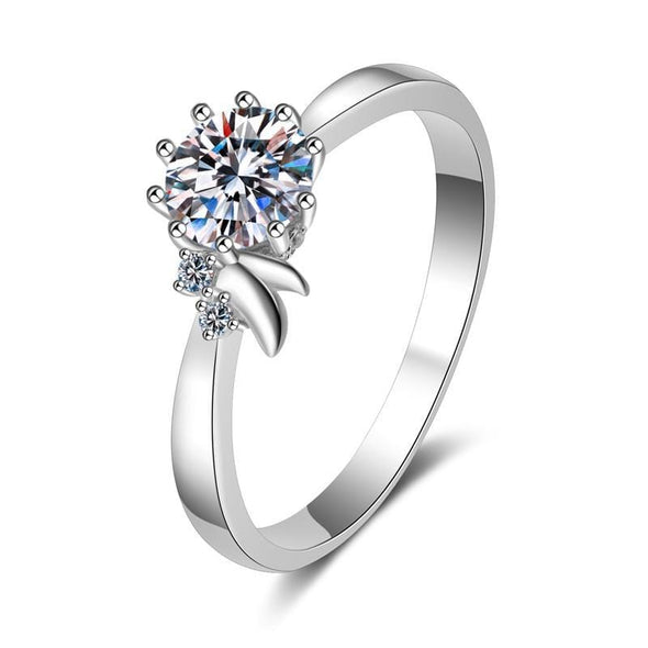 Moissanite Ring 4.5 Round Cut Moissanite Diamond Simple Classis Ring