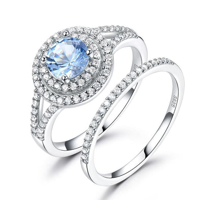 Ring 5 Topaz Wedding Ring Set