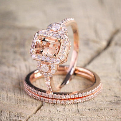 Ring 2020 New Hot Sell 18k Rose Gold Ring Set FHR008