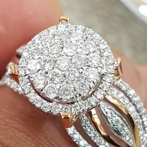 Ring 925 sterling silver engagement Ring Set FHR047