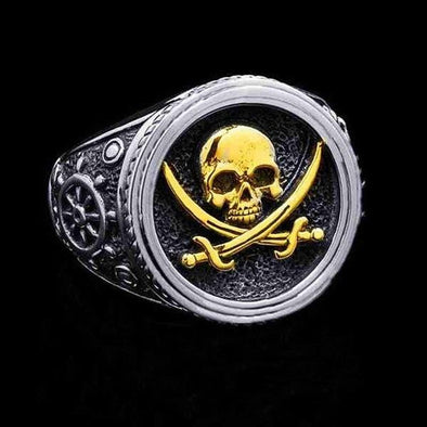 Men's Ring New Creative Skull Motorcycle Pirate Men's Ring FHR114