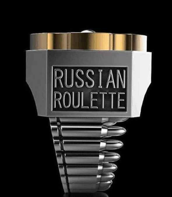 Men's Ring Creative Russian Roulette Punk Style FHR106