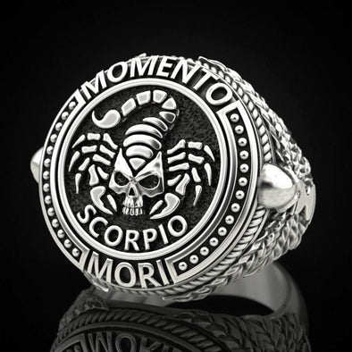Men's Ring Scorpio Skull Retro Men's Ring FHR117