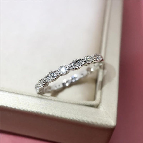 Eternity Band Vintage Round Cut Created Diamond Full Eternity Ring