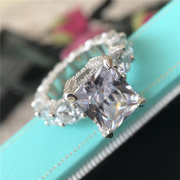 Eternity Band Radiant Cut Created Diamond Ring