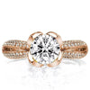 Split Shank Ring US4 Rose Gold Lotus Created Champagne Diamond Ring
