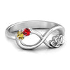Personalize Rings Personalized Birthstone Infinite Love Promise Ring Silver