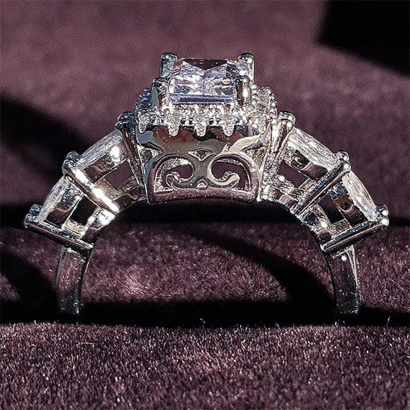 Ring 2020 Luxury Princess Cut Square 925 Silver Engagement Ring FHR205