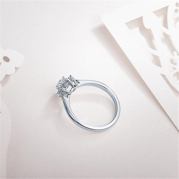 Halo Ring Halo Flower Design Created Diamond Ring