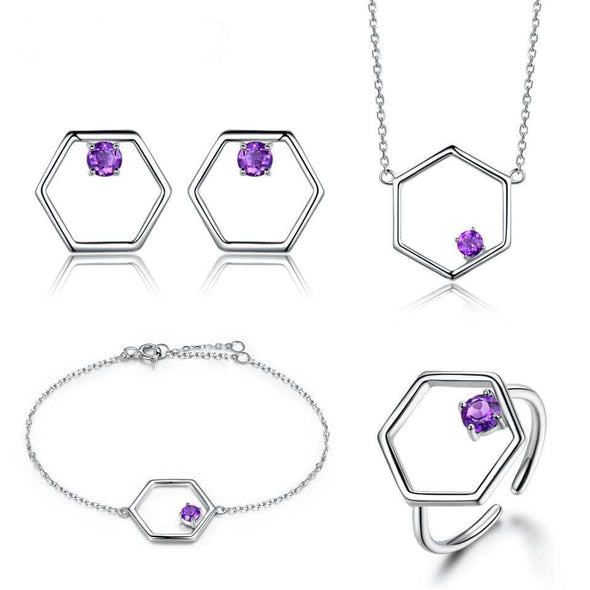 Jewelry Set Created Amethyst Set