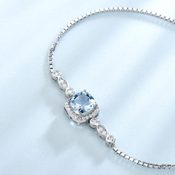 Bracelet Sky Blue Simple Topaz Bracelet