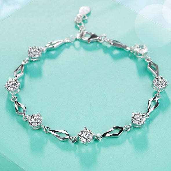 Bracelet White S5476 -2020 new luxury 925 sterling silver bracelet bangle FHB039