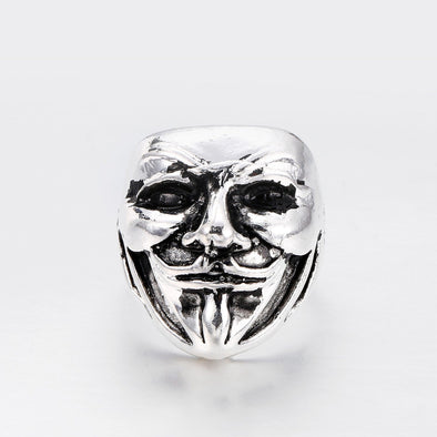 Men's Ring V for Vendetta Personality Retro Joker Mask Men's Ring FHR116