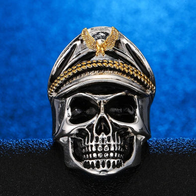Men's Ring Opening Adjustable Skull Opening Adjustable Bone Men's Ring FHR115