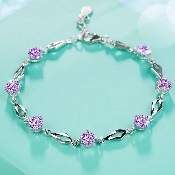 Bracelet Purple S5476 -2020 new luxury 925 sterling silver bracelet bangle FHB039