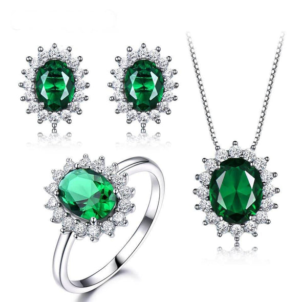 Jewelry Set 5 Emerald Set