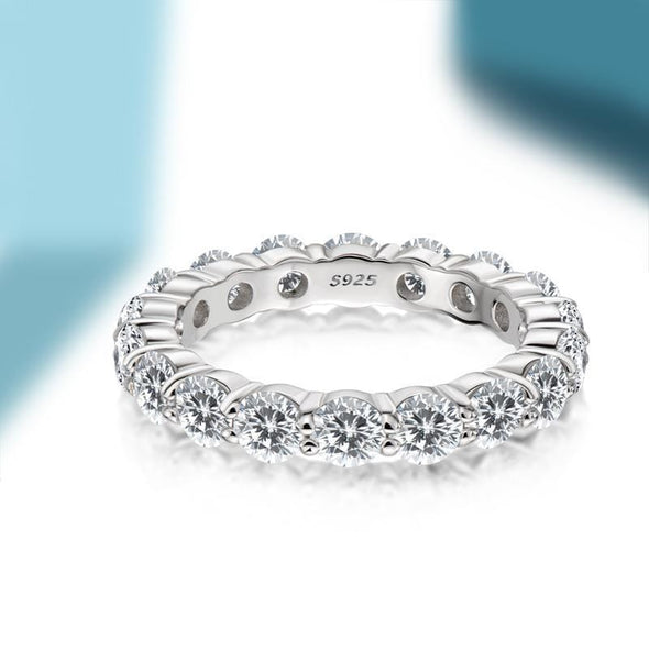 Eternity Band 4mm Round Full Eternity Created Diamond Ring