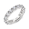 Eternity Band US4 Full Eternity Cushion Cut Created White Diamond Ring