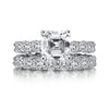 Bridal Ring Asscher Created White Diamond Eternity Ring Bridal Set