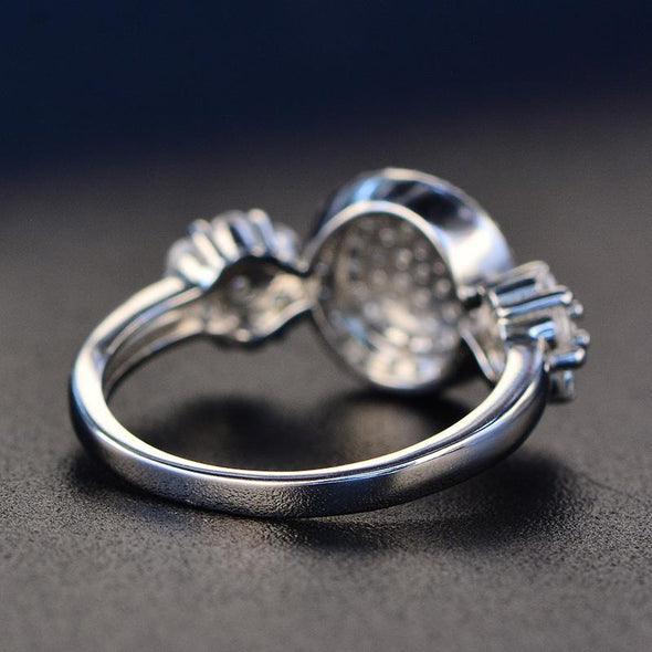 Cluster Ring Created Diamond Three-Stone Ring