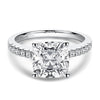 Moissanite Ring US4 Luxury Cushion Cut Moissanite Diamond Engagement Ring