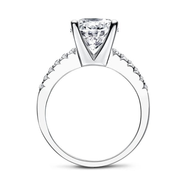Moissanite Ring Luxury Cushion Cut Moissanite Diamond Engagement Ring