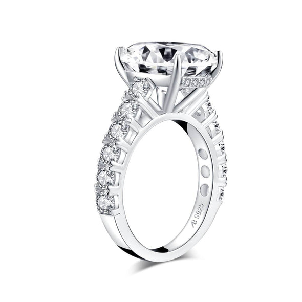 Classic Engagement Ring Luxury 5ct Cushion Created Diamond Ring