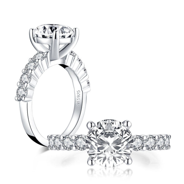 Classic Engagement Ring US5 Classic 2.65CT Round Created White Diamond Ring