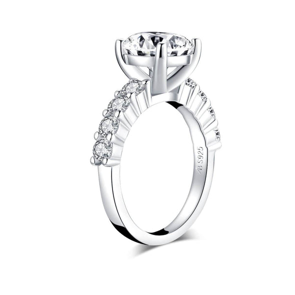 Classic Engagement Ring Classic 2.65CT Round Created White Diamond Ring