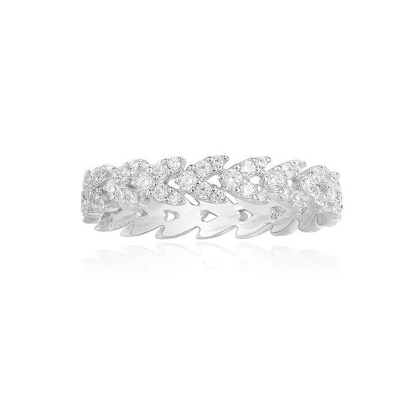 Eternity Band White US5 Heart Cut Eternity Created Diamond Ring